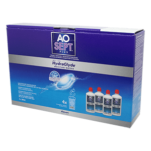 AOSEPT PLUS with HydraGlyde 4x360ml Contact Lens Cleaner